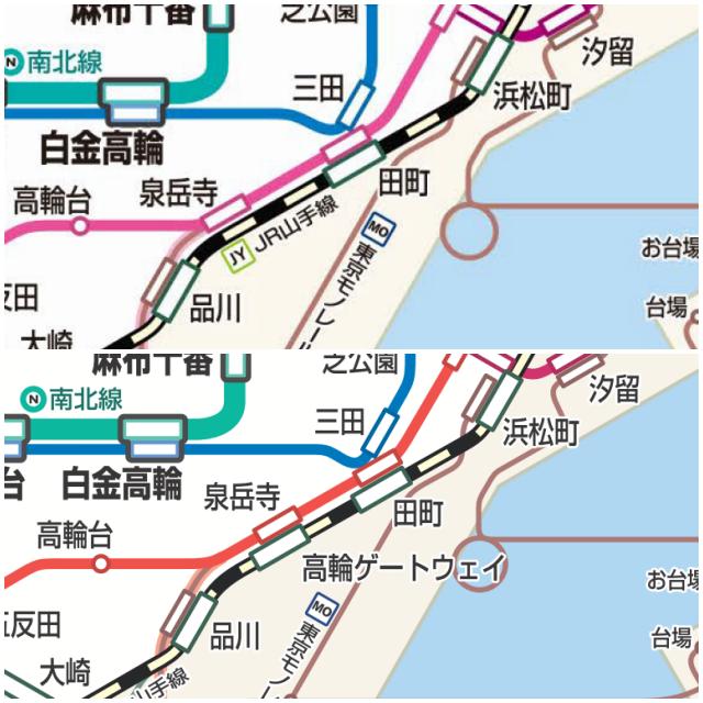 ゲートウェイ 構内 図 駅 高輪